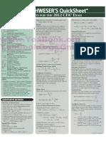 Cfa Level 1 2012 Quicksheet