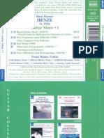 Henze - Guitar Music - 1