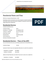 City of Burlington Electric - 2016 Residential Rates and Fees