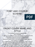 font and colour scheme
