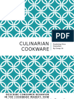 Culinarian cookware case analysis