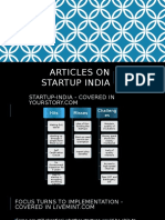 Startup India articles