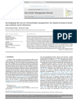 Investigating the success of knowledge management An empirical study of small and medium