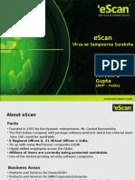 eScan Product Launch Presentation