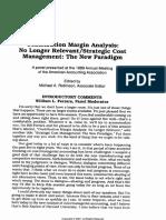 Pre Reading 01 Kaplan_1990_JMAR_Contribution Margin Analysis_No Longer Relevant_SCM_the New Paradigm
