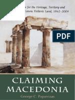 Claiming Macedonia (by George C. Papavizas)