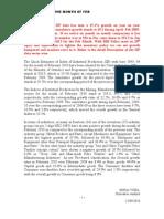 The Quick Estimates of Index of Industrial Production FEB 2010