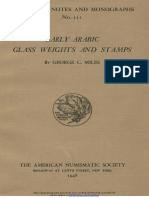 Early Arabic glass weights and stamps / by George C. Miles ; with a study of eighth-century Egyptian glass weights and stamps by Frederick R. Matson