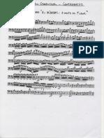 Mendelssohn As Hébridas Abertura a Gruta de Fingal de G até o final Contrabaixo Contrabaixo