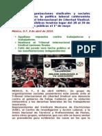 Denuncia ante Tribunal Internacional de Libertad Sindical