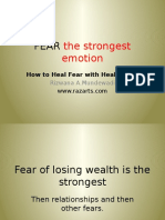 Fear the Strongest Emotion How to Heal Fear With Healing Art