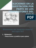 Evolución en la orquesta del siglo XX
