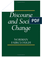 Discourse and Social Change by Norman Fairclough PDF
