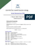 Programme Icré@-Doctorant-uae 2010