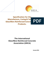 Specification for the Manufacture, Curing & Testing of Glassfibre Reinforced Concrete (GRC) Products.