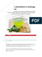 5 Jugos Para Desinflamar El Estómago y Evitar Gases
