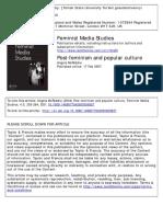 Post‐feminism and popular culture Angela McRobbie
