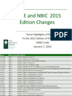 ASME and NBIC 2015 Edition Changes