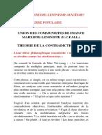 Badiou - Theorie de La Contradiction