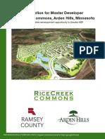 1-29-16 Master Developer Solicitation - Rice Creek Commons