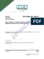 Nte Inen Iso 14644-3extracto