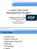 Project Life Cycle Management System