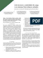 Caracterización de Inversor y Controlador de Carga Para Aplicación en Sistemas Fotovoltaicos Aislados