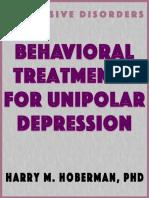1990-Behavioral Treatments for Unipolar Depress - Harry m Hoberman Phd