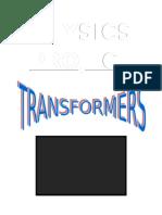 Physics Investigatory -Transformers