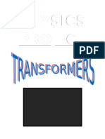 Physics Investigatory -Transformers