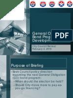 Dallas' Proposed 2017 Bond Program Options
