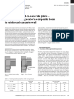 Behaviour of Steel to Concrete Joints