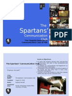 The Spartans Communication Club Profile
