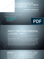 party time supplemental lessons