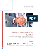 executive summary - what is the strategic partner leadership model - final exam
