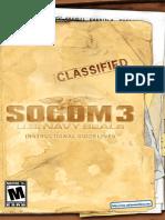Socom 3 - Manual - Ps2
