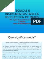 Tecnicas e Instrumentos Para La Recolección de Datos