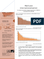 R&D and internationalisation - In small countries a large proportion of R&D is financed from abroad