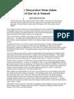 Sistem Masyarakat Islam dalam Al Qur'an & Sunnah