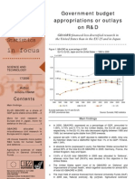 Government budget appropriations or outlays on R&D - GBAORD financed less diversified research in the United States than in the EU-25 and in Japan