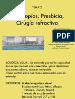 Tema 2 Amletropias Presbicia Cirugia Refractiva PDF