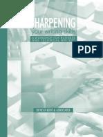 Sharpening Your Writing Skills