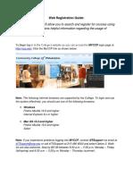 web registration guide