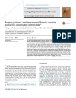 Rotational internal audit programs and financial reporting quality: Do compensating contro