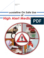 Guideline Safe Use High Alert Medication