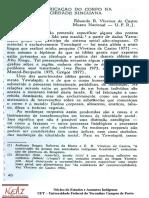 VIVEIROS de CASTRO, E. a Fabricação Do Corpo Na Sociedade Xinguana