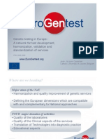 "Jean-Jacques Cassiman  ""Harmonization of Genetic testing within Europe, and towards the"