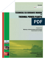 Technical Eia Guidelines Manual for Thermal Power Plant