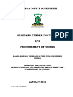 Tender Document - Njambini Road