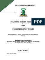 Tender Document - Njambini Road